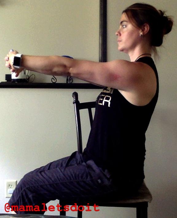 Reach Forward Upper Trap Stretch